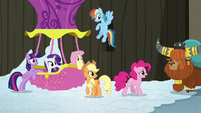 Mane Six confronted by Prince Rutherford S7E11