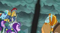 Pony of Shadows shooting into the sky S7E26