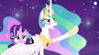 "Princess Celestia ""I'll never turn into you!"" S7E10"