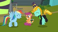 Rainbow and Lightning sharing a laugh S8E20