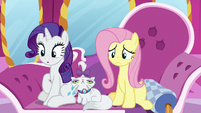 Rarity awestruck; Fluttershy concerned S7E5