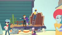 Rarity preparing a Western-themed float EGROF