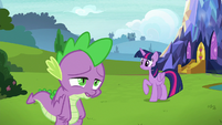 Spike sighing with exhaustion S8E24