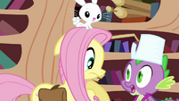 """Spike surprises Fluttershy """"what was that?"""" S03E11"""