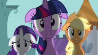 Twilight Applejack Rarity not good S02E26