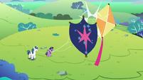 Young Shining's kite knocks into Twilight's S9E4