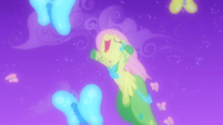 Fluttershy flying with butterflies S1E26