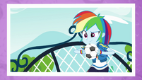 Photo of Rainbow Dash with a soccer ball EGFF