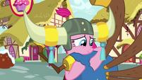 Pinkie lovingly holding her yovidaphone S8E18