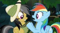 Rainbow grabs Daring's collar S4E04
