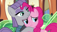 Sad Pinkie Pie hugging Maud S4E18