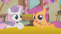 """Scootaloo and Sweetie Belle """"I'm liking this idea"""" S01E12"""