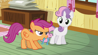 Sweetie and Scootaloo playing horseshoes S5E4