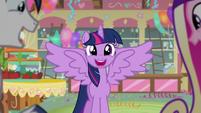 Twilight smiles with elation S5E19
