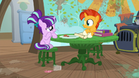 Filly Starlight sad about her spilled juice S6E1