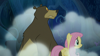 Fluttershy and Harry looking nervous S6E15
