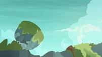 Giant boulder sailing over the horizon S7E25