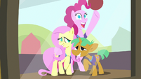 Portrait of Pinkie, Fluttershy, and Snails S9E6