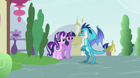 Princess Ember with Twilight and Starlight S7E15