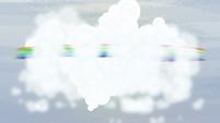 Rainbow spinning around a cloud S5E5