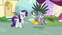 Rarity dusting herself off S9E19