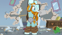 Rockhoof notices the mess he made S8E21