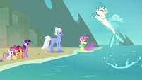 Terramar springing out of the water S8E6