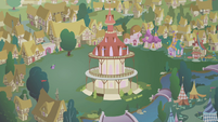 Twilight and Spike in an empty Ponyville S1E09