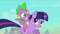 Twilight explaining about Sombra to Spike S3E2