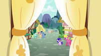 View of Ponyville from Sugarcube Corner S5E7