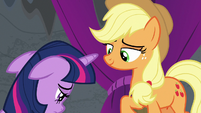 Applejack smiles sympathetically at Twilight S8E7