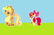 Applejack y Aplebloom
