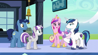 """Cadance """"the baby will need a pony like him to look to for magical advice"""" S6E2"""
