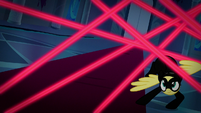 Fluttershy dodging the lasers S9E4