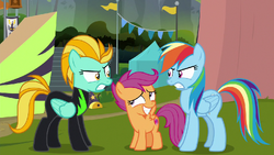 Rainbow vs. Lightning; Scootaloo in the middle S8E20.png