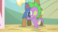 Spike running out of the barn S4E13