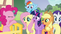Twilight and friends instantly solve the clue S5E19