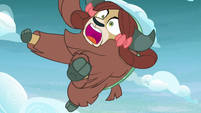 Yona plummeting out of the sky S8E25