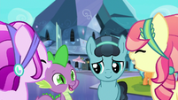 Crystal Ponies laugh with Spike and Crystal Hoof S6E16