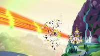Giant blast blows away part of the castle S9E24