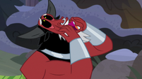 Lord Tirek pulling on his face S9E8