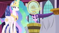 Princess Celestia throws out her pancakes S7E10