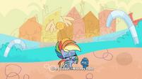 "Rainbow ""nothing but a little hard work"" PLS1E2a"