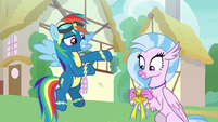 "Rainbow ""the first non-Pegasus Wonderbolt!"" S9E3"