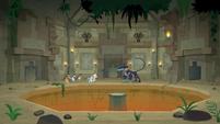 Ahuizotl confronting the temple intruders S9E21