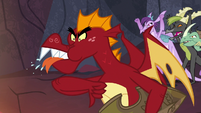 Garble spits at Spike and gives him a thumb down S7E25