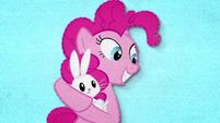 Pinkie Pie rocking Angel in her hooves BFHHS2