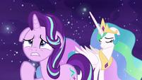 Princess Celestia affected by Starlight's words S7E10