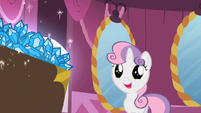 Sweetie Belle looking at the gems S2E05