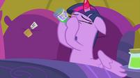 Twilight Sparkle chugs Zecora's cure MLPS2
